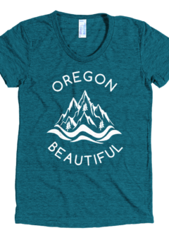 Oregon Beautiful - Women's Tri-Blend T-Shirt - Evergreen