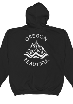 Oregon Beautiful - Full-Zip Hooded Sweatshirt - Back