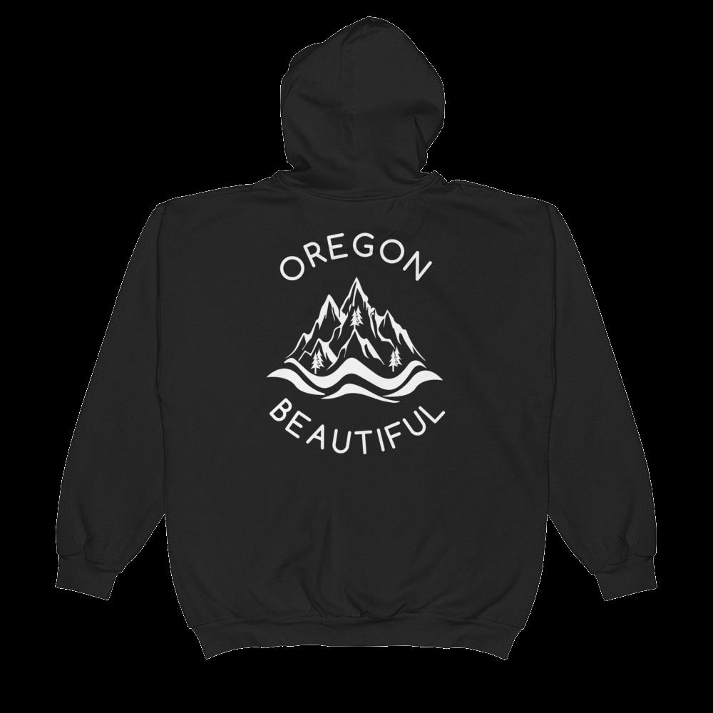 Oregon Beautiful - Full-Zip Hooded Sweatshirt - Back