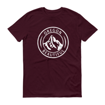 Oregon Beautiful - T Shirts - Maroon