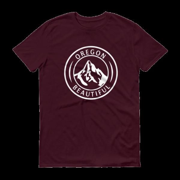 Oregon Beautiful - T Shirts - Maroon