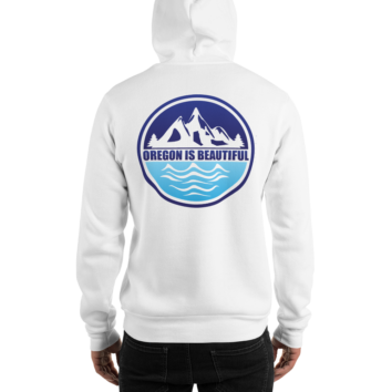 Oregon is Beautiful - Heavy Blend Hooded Sweatshirt - White