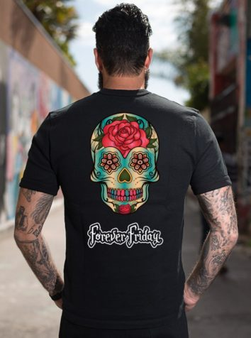 Sugar Skull T Shirt Back