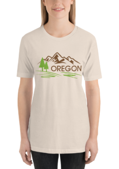 Oregon - Unisex T Shirt - Cream