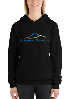 Oregon is Beautiful - 4 Mountain - Unisex Hoodie