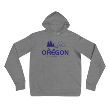 Oregon is Beautiful - Unisex Fleece Pullover Hoodie