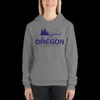 Oregon is Beautiful - Unisex Fleece Pullover Hoodie