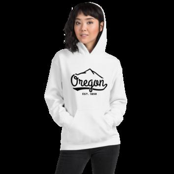 Oregon EST 1859 - White Hoodie