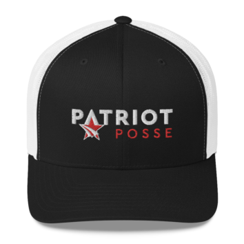 Patriot Posse - Retro Trucker Hat - B/W