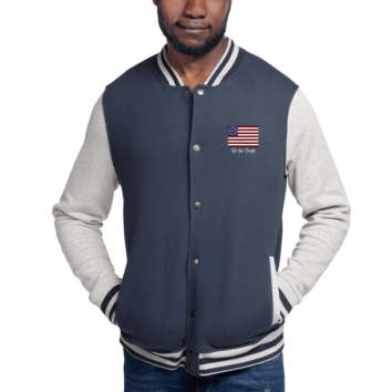 We The People - Embroidered Champion Bomber Jacket