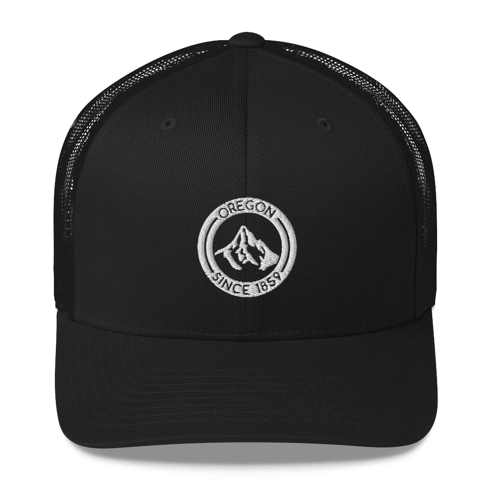 Oregon - Mt Hood - Retro Trucker Hat