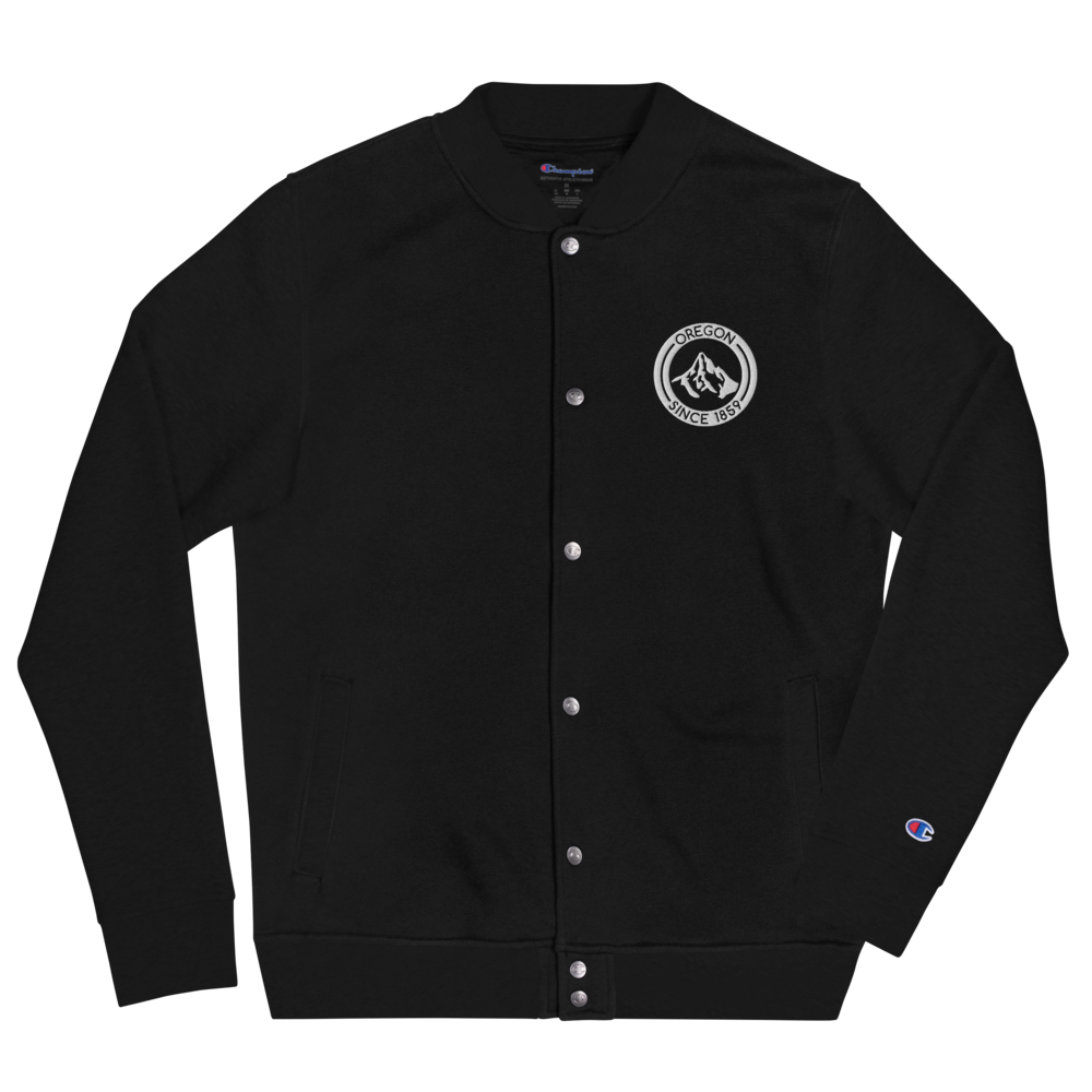 Oregon - Mt Hood - Embroidered Champion Bomber Jacket
