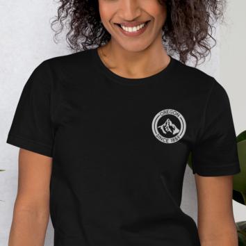 Oregon - Mt Hood - Embroidered T Shirt