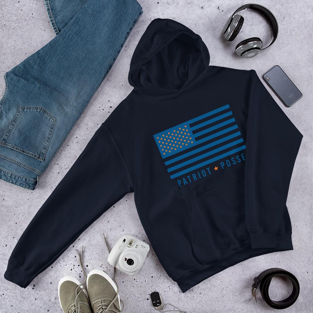 Patriot Posse - Orange/Blue Flag - Hoodie