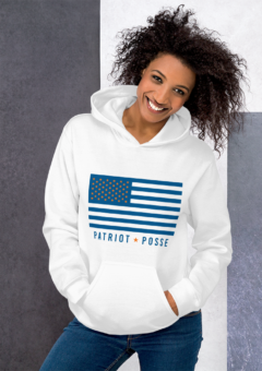 Patriot Posse - Orange/Blue Flag - Hoodie