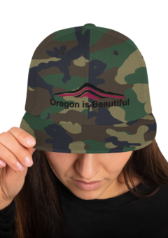 Oregon is Beautiful – Camo Hat - Hot Pink/Black