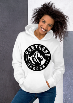 Portland Oregon Traditional - Hoodie/White