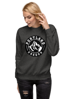 Portland Oregon Taditional - Charcoal Heather - Crewneck
