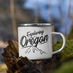 Exploring Oregon - Enamel Mug