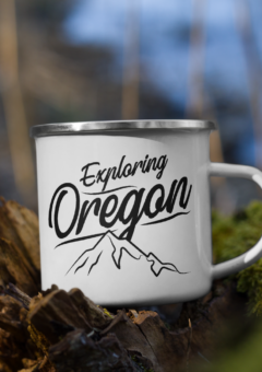 Exploring Oregon - Enamel Mug